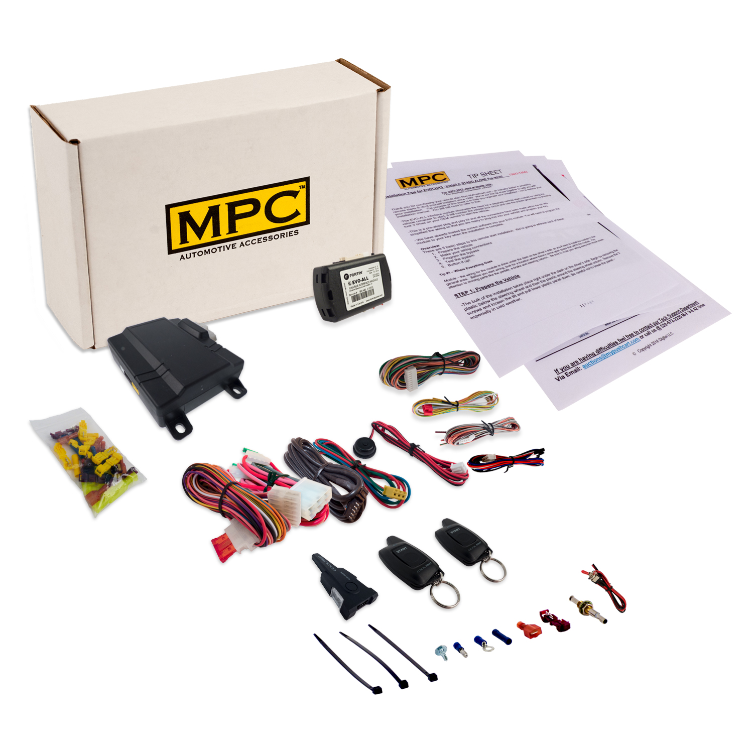 1 Button 2 Way Remote Start Kit For 2011 2013 Toyota Highlander With