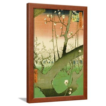 Plum Garden, Kameido Framed Print Wall Art By Ando - Hiroshige Plum Garden
