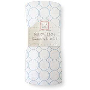 Pastel Blue Mod Circles - SwaddleDesigns Marquisette Swaddling Blanket Pastel Mod Circle, Blue