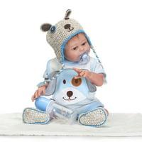 "Zimtown Handmade Full Body Vinyl Silicone Reborn Baby Newborn Lifelike Boy Doll 20"" Christmas Gift"