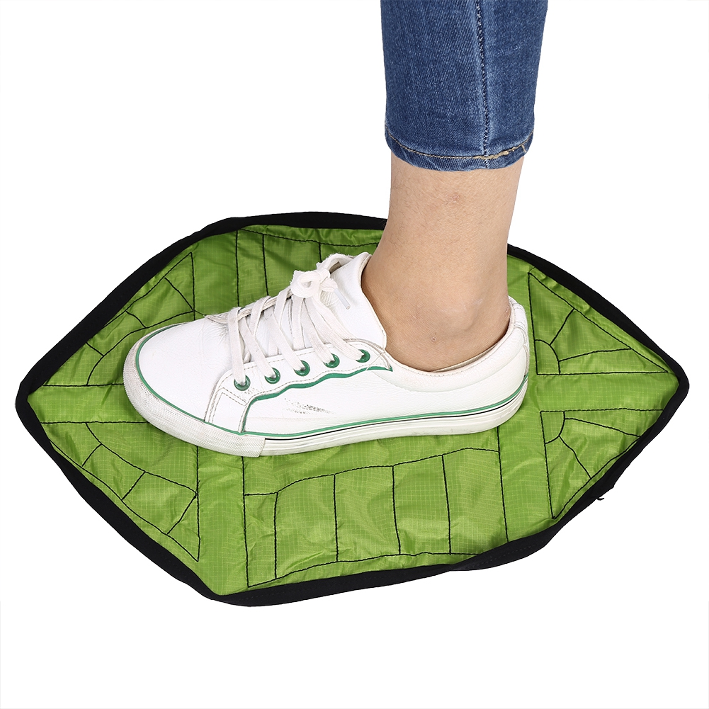 Yosoo 1 Pair Hands-free Reusable Waterproof Anti-slip Automatic Shoe Cover for Home Office Hands-free Shoe Cover Reusable Shoe Cover