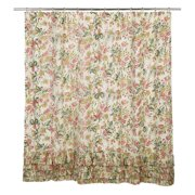 VHC Madeline Ruffled Shower Curtain