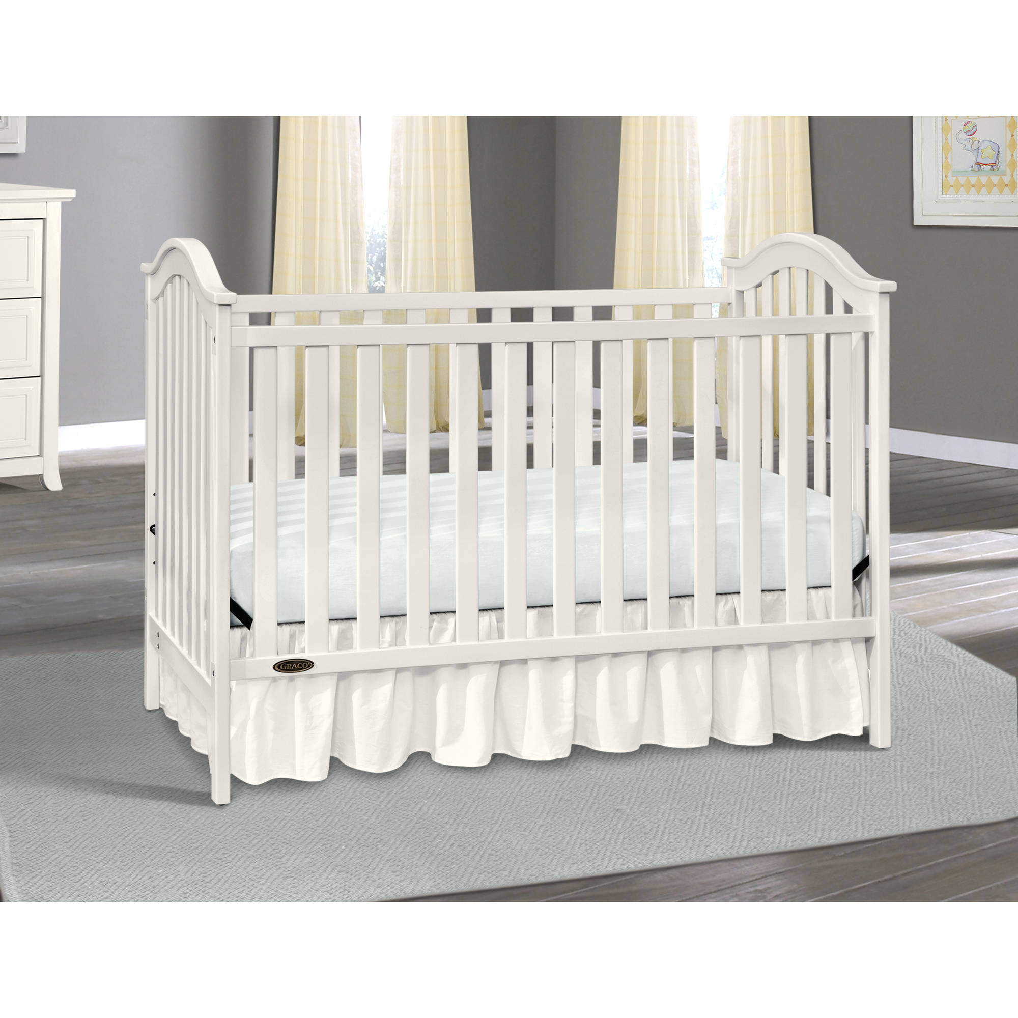 Ideal Graco Classic 3 in 1 Convertible Baby Crib White timeless design  SV45