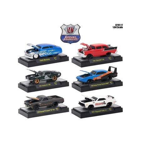 Ground Pounders 6 Cars Set Release 17 IN DISPLAY CASES 1/64 Diecast Model Cars by M2 Machines