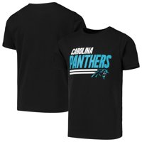 Youth Black Carolina Panthers Lined T-Shirt