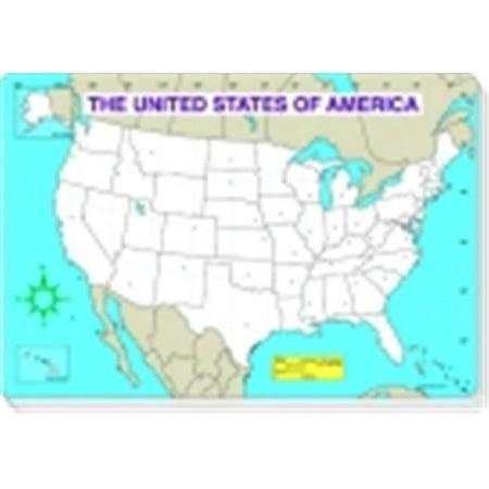 Carson Dellosa Us Map Jumbo Pad Blank Walmartcom - Walmart us map