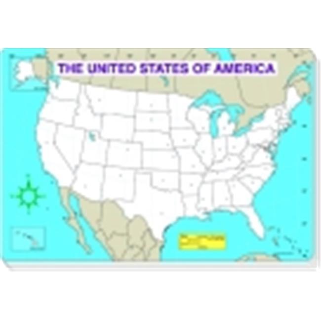 Carson Dellosa Us Map Jumbo Pad Blank