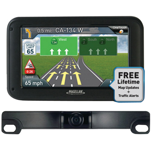 "Magellan RoadMate 5255TLM 5"" GPS Device with Free Lifetime Map and Traffic Updates and Back-Up Camera"