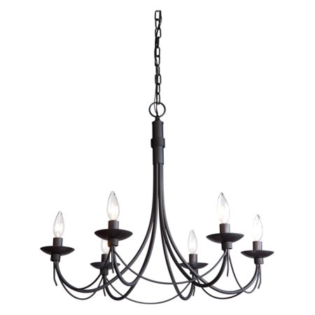 Artcraft Wrought Iron AC1486 Chandelier The Artcraft Wrought Iron AC1486 Chandelier is simple and charming. The hook-style arms showcase the candle-inspired fixtures and candelabra bulbs while the additional decoration brings a touch of elegance to the look. This six-light chandelier is designed for versatility and will work well with a variety of dcor and color schemes. Artcraft Since 1955, Artcraft Lighting has operated on the belief that beautiful lighting should be as much about the experience as the light fixtures themselves. And to create that meaningful experience, Artcraft Lighting strives to provide lighting products that are designed to meet your decor, lifestyle, and budget needs - all while ensuring top quality and impeccable customer service. With Artcraft Lighting products, you can reap the benefits of more than 60 years of lighting experience.