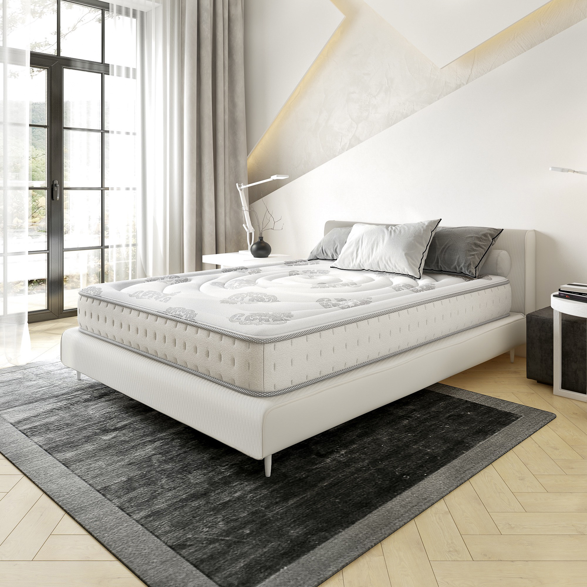 Classic Brands Decker Firm Hybrid Memory Foam and Innerspring 10.5-Inch Mattress