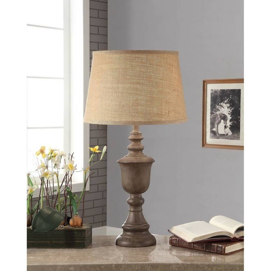 Lovely Better Homes And Gardens Rustic Wood Finish Table Lamp