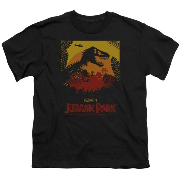 Jurassic Park - Welcome To Jp - Youth Short Sleeve Shirt - Medium