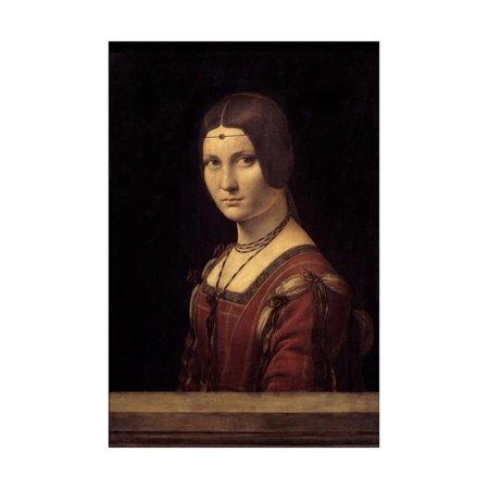 Portrait of a Court Lady of Milan by Leonardo Da Vinci Print Wall