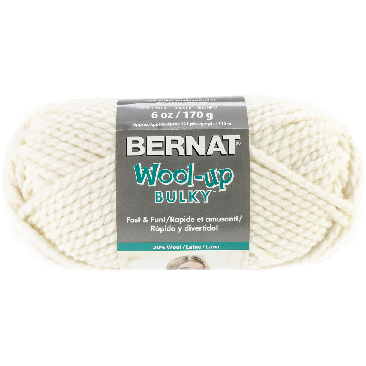 Spinrite Wool-Up Bulky Yarn, Aran Multi-Colored