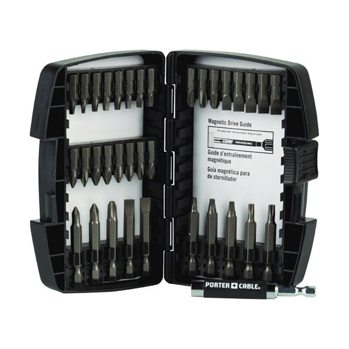 Porter Cable PCSD35 35 Piece Drill drive Bit Set W case Philips square torx straight by Porter Cable