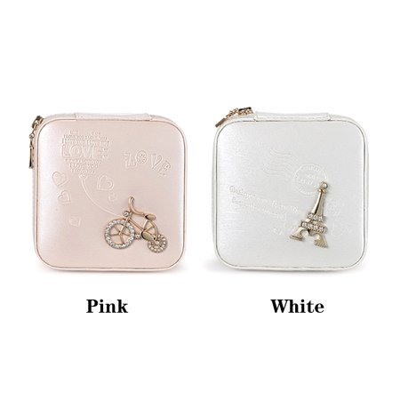 Small Portable Travel Jewelry Box Organizer Storage Case for Rings Earrings Necklaces - image 6 of 7