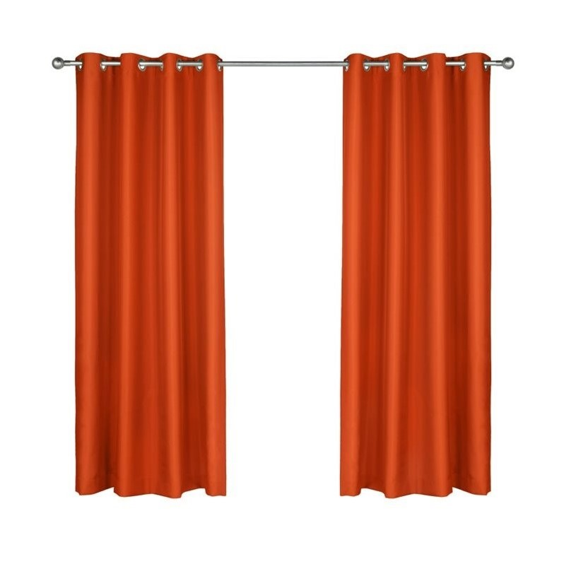 "Pemberly Row Gazebo 96"" Grommet Curtain Panel in Tangerine - image 2 of 2"