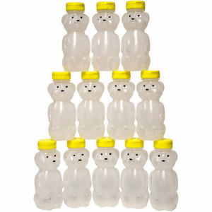 Harvest Lane Honey Bee Keeping 8 oz Empty Honey Bear Bottles 12 Count