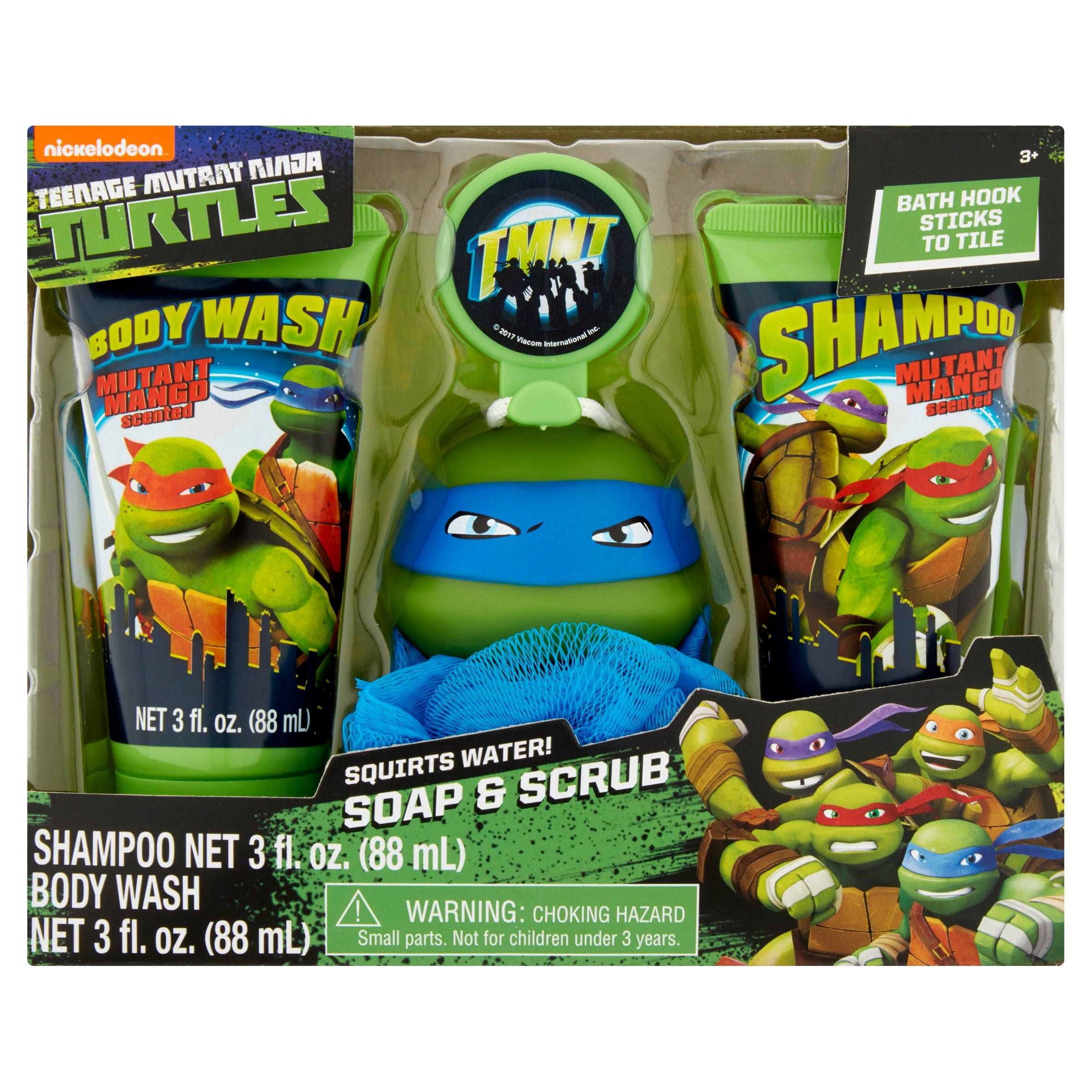 Age Mutant Ninja Turtles Soap Scrub Shampoo And Body Wash Bath Set 4pcs