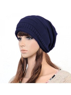 7f34329d973 Product Image Unisex Womens Mens Knit Baggy Beanie Hat Winter Warm  Oversized Ski Slouch Cap