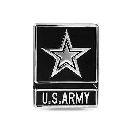 United States Army Star Chrome Metal Auto Emblem