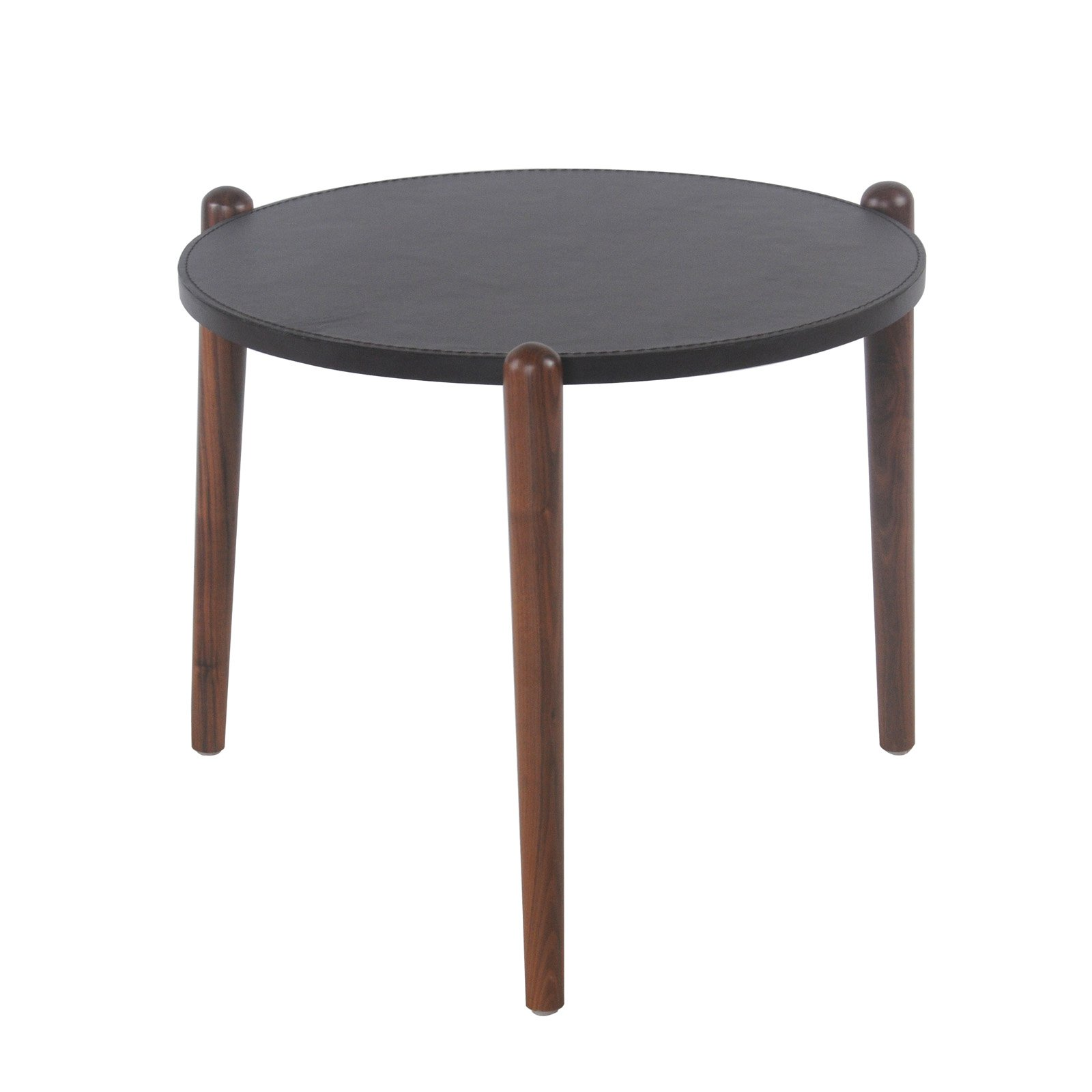 New Pacific Direct Inc Farren Recycled Leather Round End Table