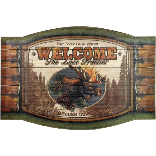 Rivers Edge Products Welcome Moose Sign