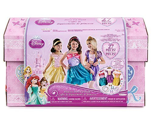 Disney Princess 27 Piece Dress Up Trunk with Accessories Ariel, Rapunzel, & Belle by Jakks Pacific