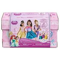 Disney Princess - 27 Piece Dress Up Trunk with Accessories - Ariel, Rapunzel, & Belle