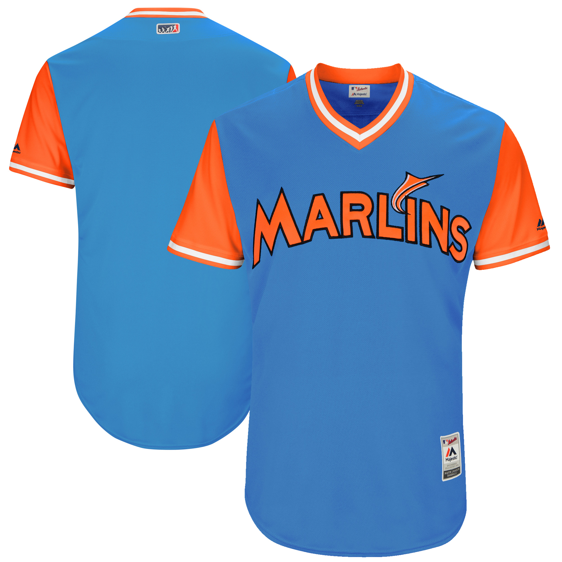 Miami Marlins Majestic 2017 Players Weekend Authentic Team Jersey - Royal