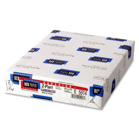 Ncr Carbonless Paper - NCR 8.5 x 11 Superior Carbonless White Paper 500/Ream (NCR5914)