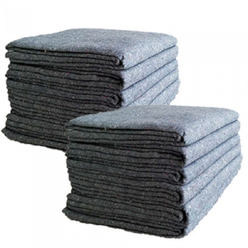 Uboxes Textile Moving Blankets, 54x72in, 12 Pack, 3mm Thick