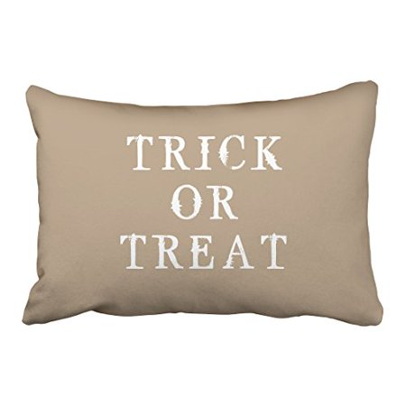WinHome Fun Simple Happy Halloween Trick Or Treat Vintage Popular Polyester 20 x 30 Inch Rectangle Throw Pillow Covers With Hidden Zipper Home Sofa Cushion Decorative Pillowcases (Popular Halloween Treats)