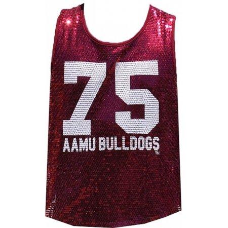 Big Boy Alabama A&M Bulldogs Ladies Sequins Tank Top [Maroon - S] ()