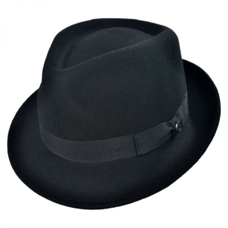 2a7ce70953db4 Jaxon Hats - Detroit Wool Felt Trilby Fedora Hat - Black - XL ...