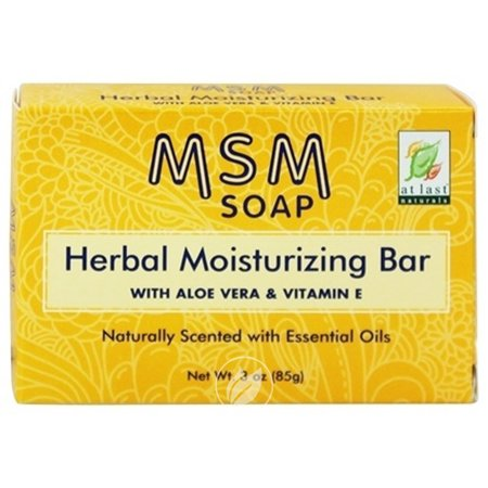 At Last Naturals MSM Herbal Moisturizing Bar Soap 3 Ounce, Pack of 2