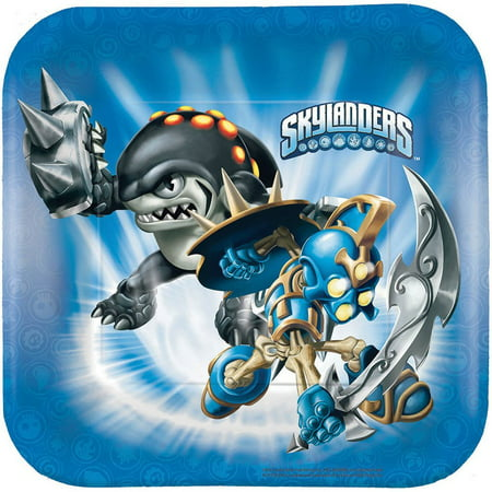 Skylanders Dessert Plates - Birthday and Theme Party Supplies - 8 Per Pack By SmileMakers - Halloween Themed Dessert