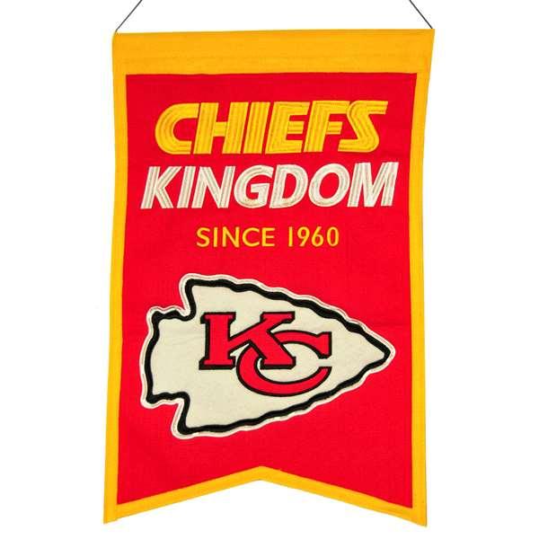 Kansas City Chiefs Wool Franchise Banner