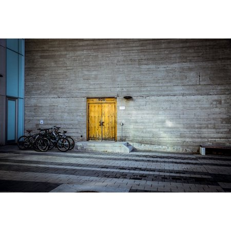 Framed Art for Your Wall Doorway Doors Bikes Entrance Building Wooden 10x13 Frame (Doorway Framed)