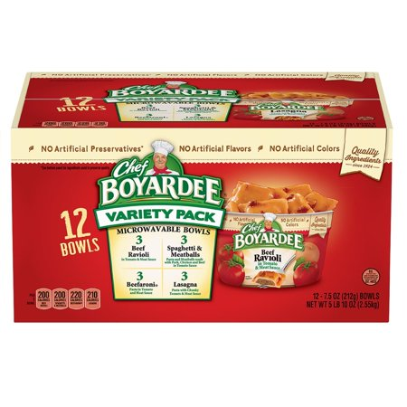Product of Chef Boyardee Mini Ravioli and Spaghetti & Meatballs Variety Pack, 12 pk. [Biz Discount] - Halloween Party Food Meatballs