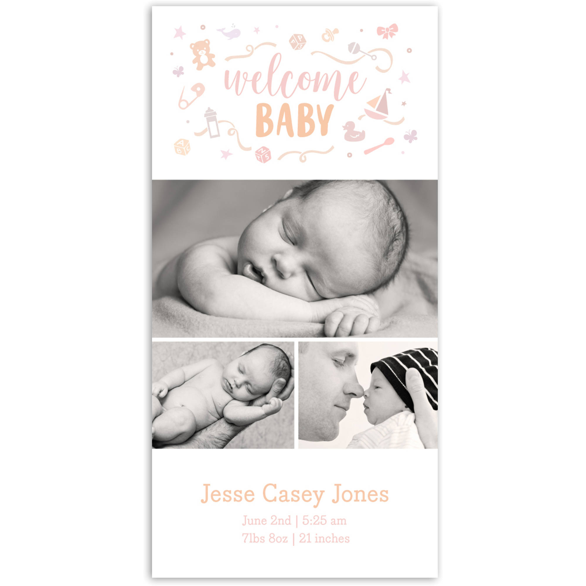Welcome Baby Icons Baby Announcement