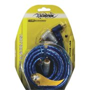 XSCORP 6TR 6 ft. Right Angle Tiple Shielded RCA Cables with Turn On Wire