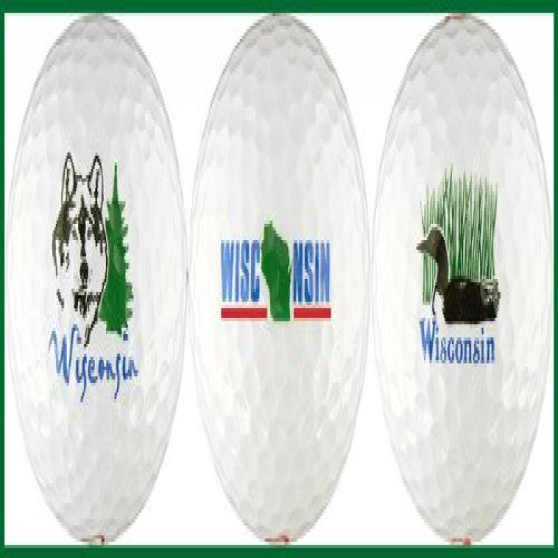 Wisconsin Variety Golf Ball Gift Set by