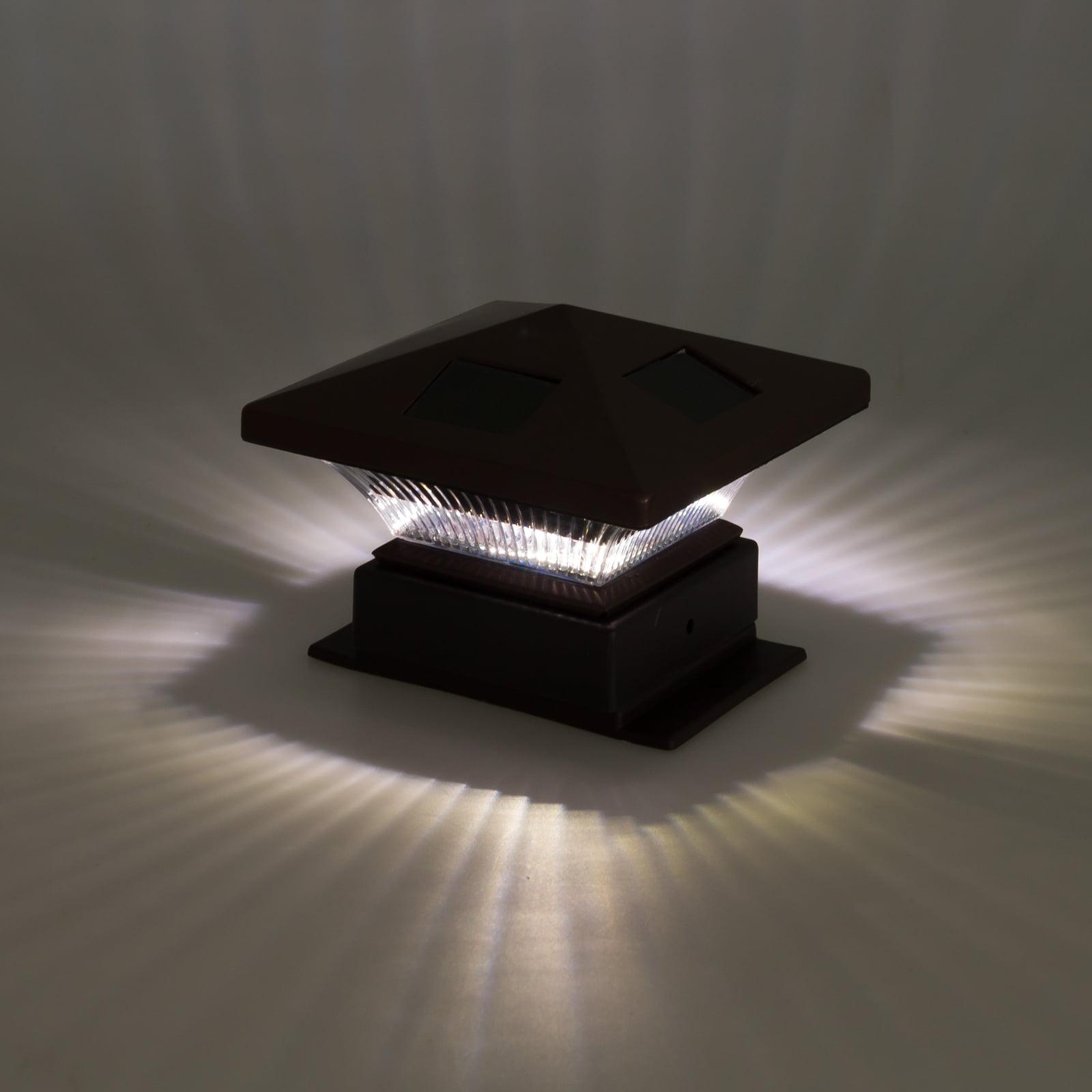 "WESTINGHOUSE NEW 4/""x4/"" Pagoda II Solar LED Post Cap Light 8 Pack"