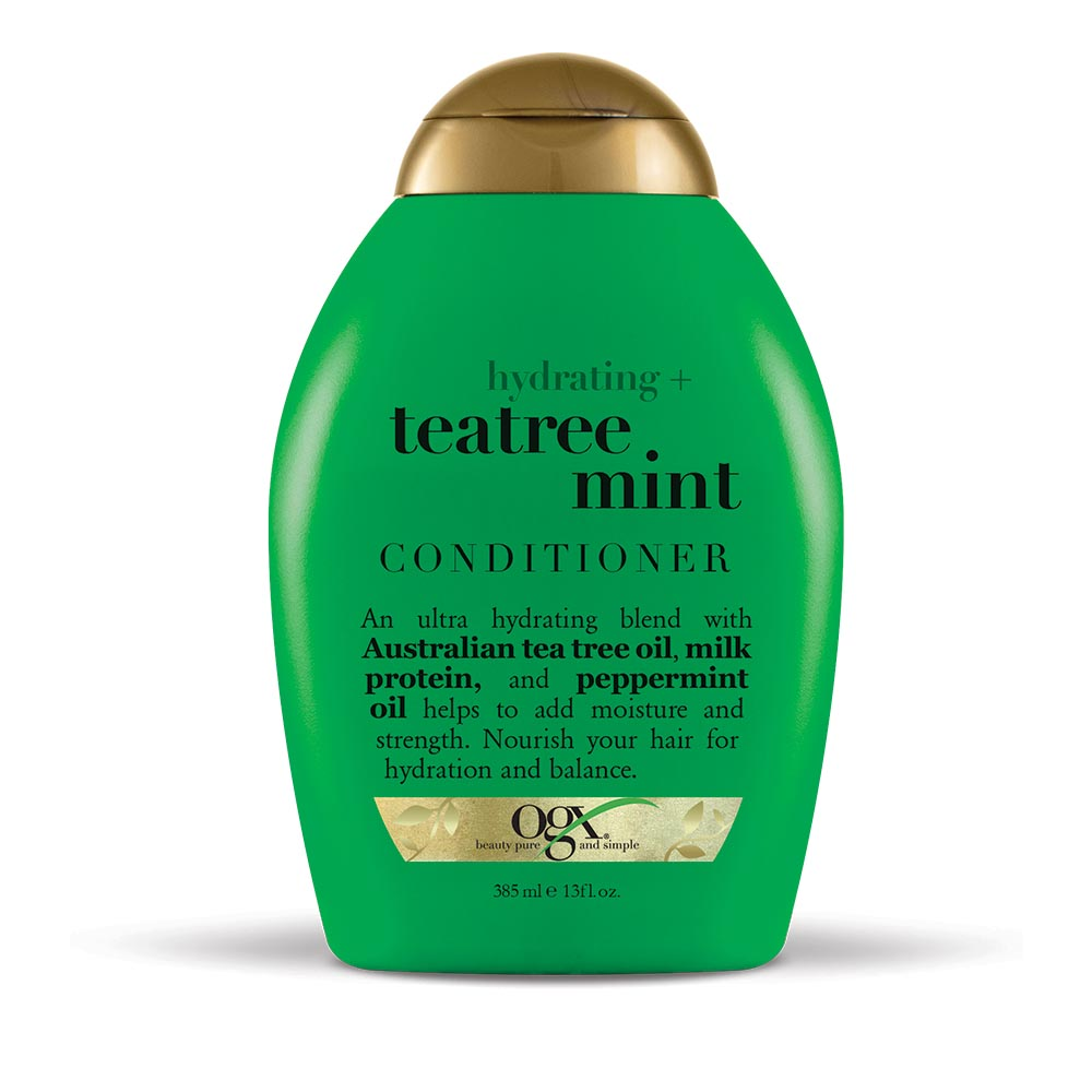 OGX Hydrating + Teatree Mint Conditioner, 13.0 FL OZ
