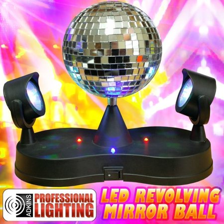 Novelty Lighting Mart : Lighted LED Revolving Disco Mirror Ball - Novelty Lighting - Walmart.com