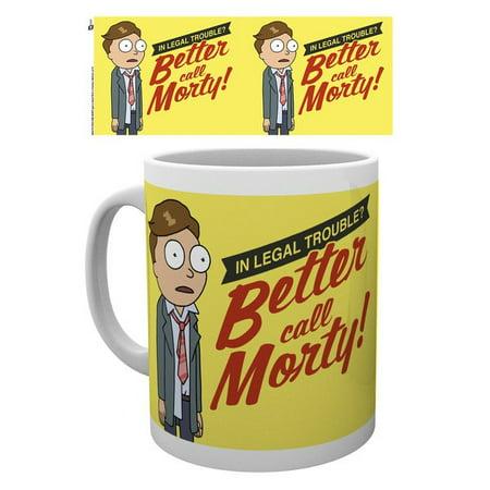1afaacf7651 Rick And Morty - Ceramic Coffee Mug / Cup (Better Call Morty)