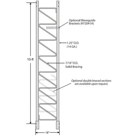 ROHN 45G Standard 10-ft Tower Section