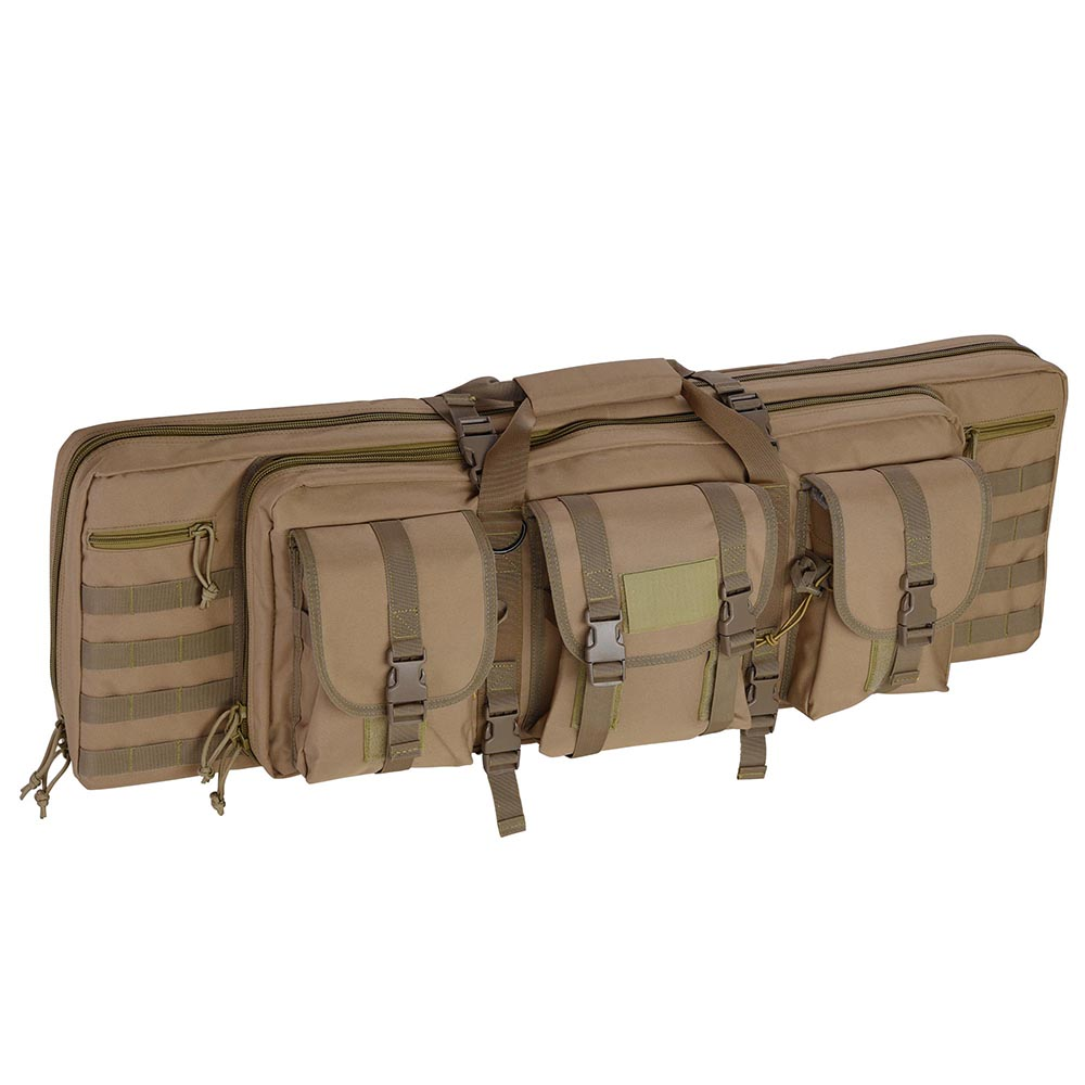 """36"""" Tactical Dual Rifle Gun Bag Case Carbine Soft Case Padded Oxford with Backpack Straps Multiple Color"""
