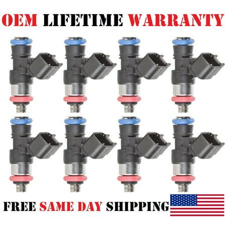 8/Pack NEW OEM Bosch 42LB Fuel Injectors For 2011-2015 Chevrolet Camaro 6.2/7.0L V8 (PART #0280158051)